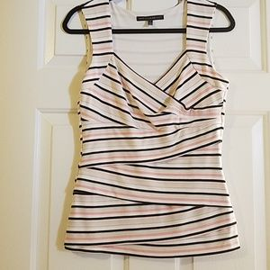 White House Black Market sleeveless striped top